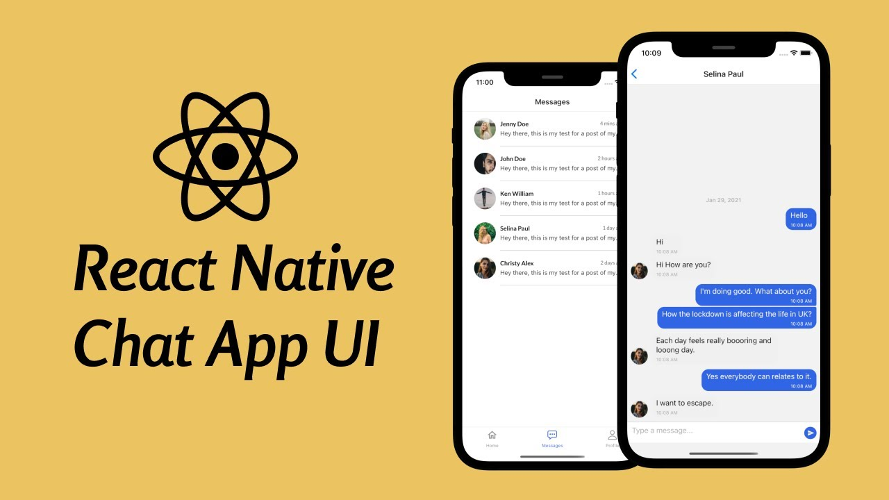 React Native Chat App UI Tutorial