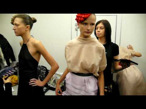 TEGIN (Russian Fashion Week). Backstage 1. - YouTube