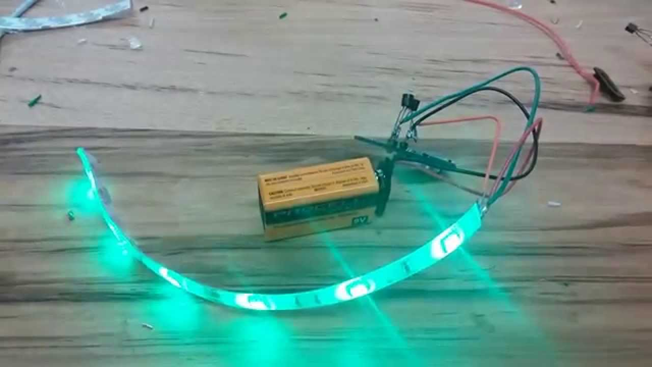 Red-Yellow-Green flashing bike lights - YouTube