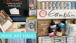 Art Supply Haul! New Royal & Lagnickel Flip Kit Watercolors | Daniel Smith Watercolor | Gamblin Oils