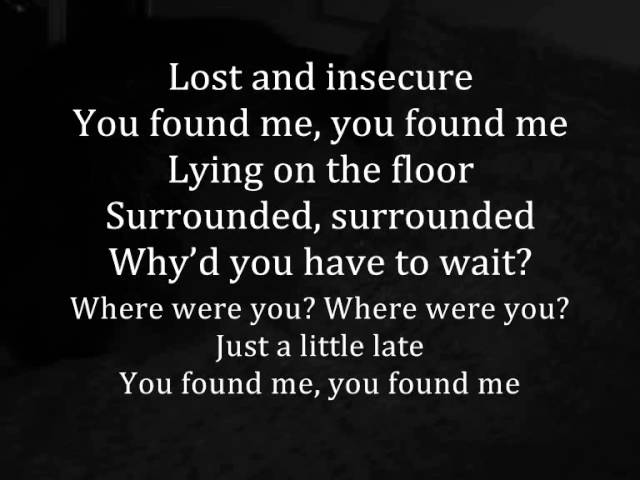 The Fray - You Found Me with Lyrics Chords - Chordify