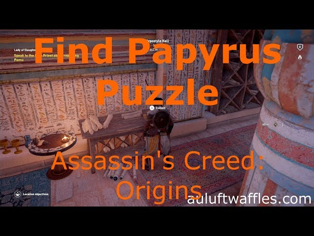Find the Papyrus Puzzle Hypostyle Hall Assassin's Creed: Origins