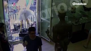 Las cámaras de seguridad del Museo Erótico de Barcelona captan el atropello de Barcelona