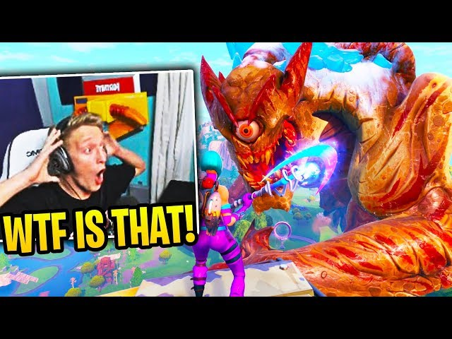 TFUE & STREAMERS REACT To *EVENT* ROBOT vs MONSTER (Fortnite Event)