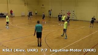 Handball. KSLI (Kiev, UKR) - Lagutina-Motor (UKR). U16 boys. Semifinal. TROPHY-2018. Smederevo.