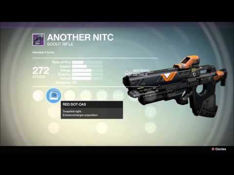 Destiny legendary scout rifle quot another nitc quot special christmas package