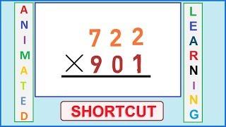 3 digit multiplication Shortcut | Fast Mental calculation steps | Shortcut world Part-8 OnlineCSK|