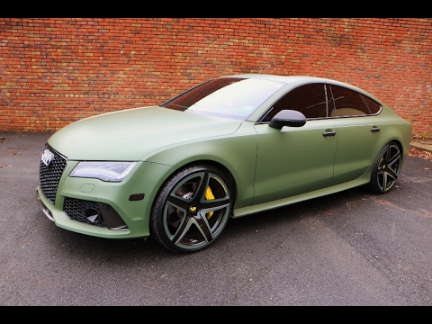 Whipaddict Audi Rs7 On Custom Mono F2 03 Forgiato 22s Matte Army Green By Mdeezy Visions