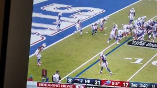 BILLS FAN THROWS DILDO ON FIELD DURING PATS GAME