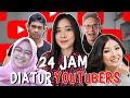 24 JAM MAKAN DIATUR YOUTUBER INDONESIA!