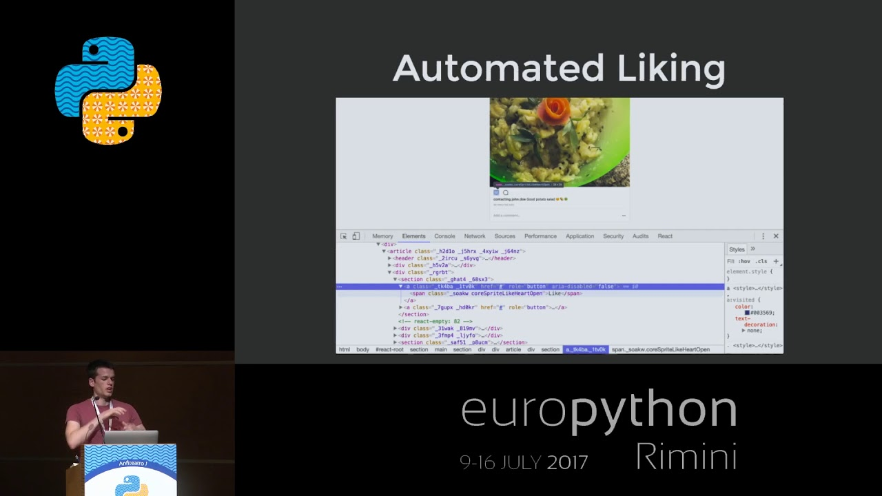 Tim Großmann - Automating Instagram with Python and Selenium