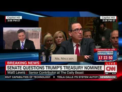 Senate questions Steve Mnuchin