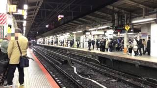 平日夜のJR横浜駅 東海道線通過列車6連発!