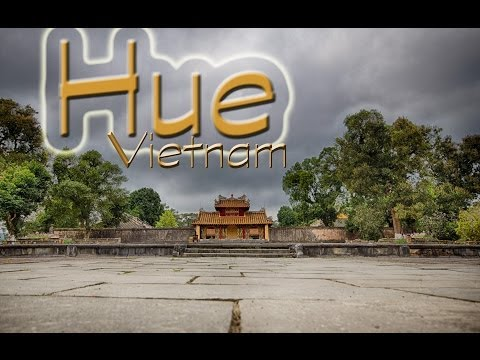Temples and Scooters in Hue, Vietnam
