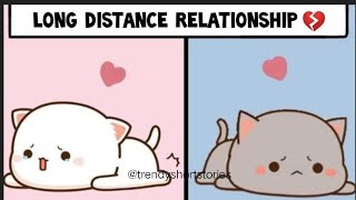 Long Distance Relationship is Very Hard 💔 Do You Feel the same?Peach Goma Love Story| Milk and Mocha