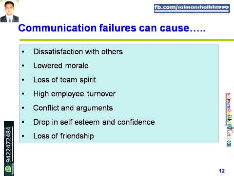 12 Causes Of Common Failures In Communication