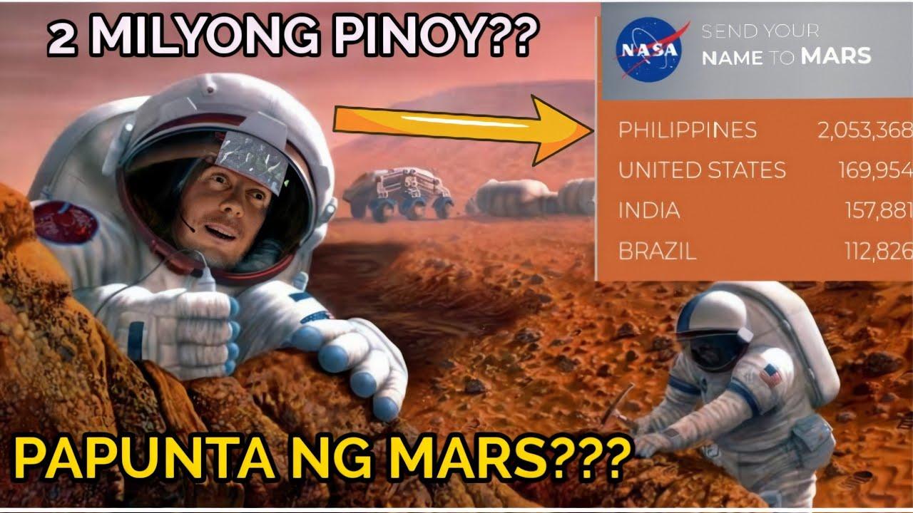 2 Milyong Pinoy Papunta ng MARS?? pangalan lang ba o mismong tao?
