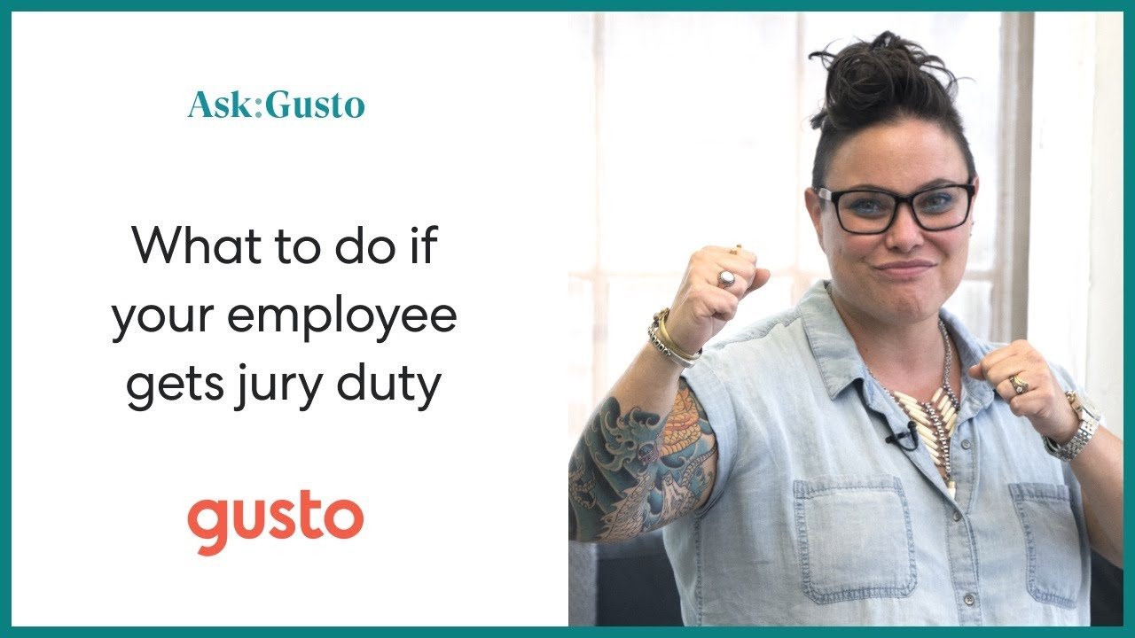 Got Jury Duty? Here's a Quick Guide for Employers
