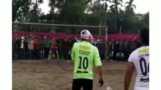 Zubeen da at Morigaon.... playing football game