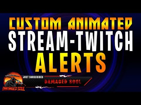 CREATING CUSTOM ANIMATED STREAM/TWITCH ALERTS  - PS/AE/OBS TUTORIAL