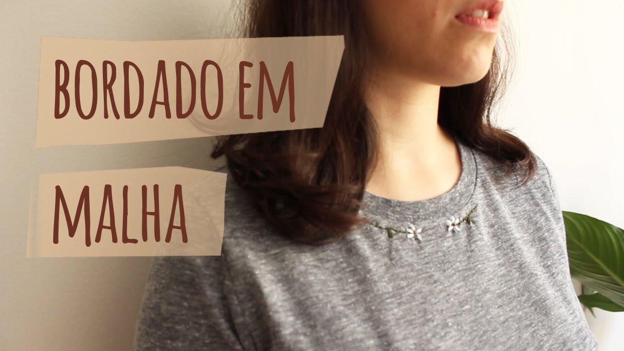 b90281358949f Tutorial  25 Camiseta de malha customizada com bordado - YouTube