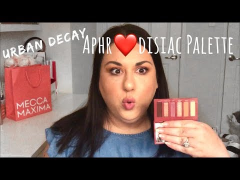 URBAN DECAY APHRODISIAC PALETTE | DEMO AND REVIEW
