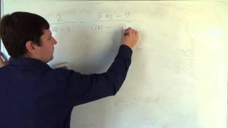 Алгебра 8 класс. 1 октября. Сложение и вычитание алгебраических дробей с разными знаменателями #10