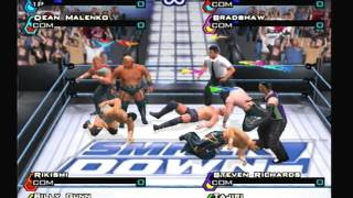 WWF SmackDown! Just Bring It - 8 Man Battle Royal Match