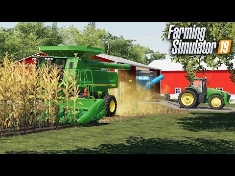 FS19- CORN HARVEST ON THE NEW FARM! PULLING OUT THE GRAIN CART & GETTING  EQUIPMENT READY