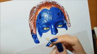 Work in Progress: Drawing Jennifer Lawrence as Mystique Real Time #drawing | Jasmina Susak