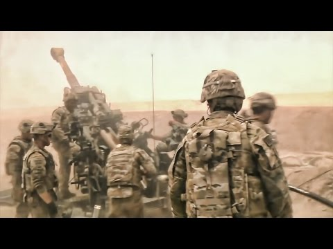 U.S. Artillery Support For Iraqi Army • Combat In Iraq 2016