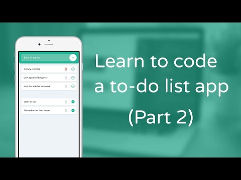 Learn to code a to-do list app in JavaScript - Part 2