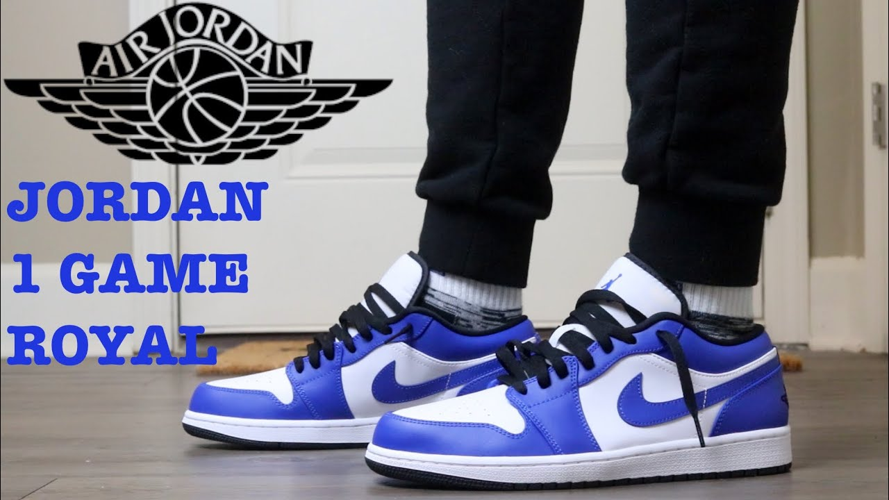 """REVIEW AND ON FEET OF THE AIR JORDAN 1 LOW """"GAME ROYAL"""""""