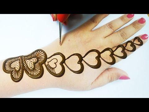 Beautiful Mehndi Design -  ऐसी सुन्दर मेहँदी डिजाईन देख के आप खुश हो जायेंगे- stylish mehndi