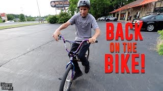 RIDING MY BIKE AGAIN! *FIRST TIME SINCE ACCIDENT*