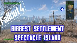 Fallout 4 - BIGGEST SETTLEMENT! - Spectacle Island - plus LUCK BOBBLEHEAD