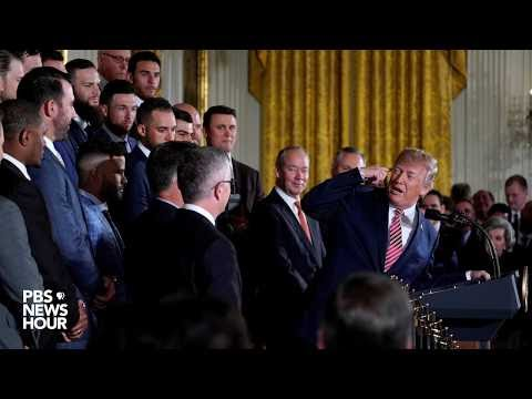 WATCH: President Trump hosts 2017 World Series champions Houston Astros