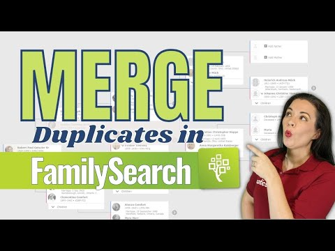 How to merge individuals on FamilySearch Family Tree