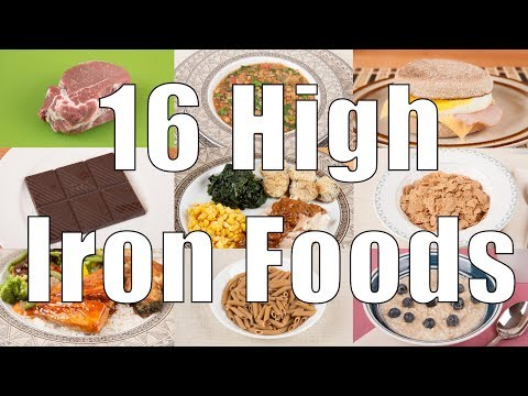 16 High Iron Foods (700 Calorie Meals) DiTuro Productions