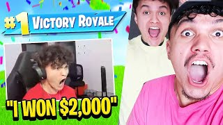 FaZe Reacts to FaZe Jarvis WINNING in Fortnite Cash Cup