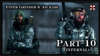 Resident Evil Revelations PC (Infernal) Gameplay - Part 10 - (Keith) Enter Jackass and Grinder