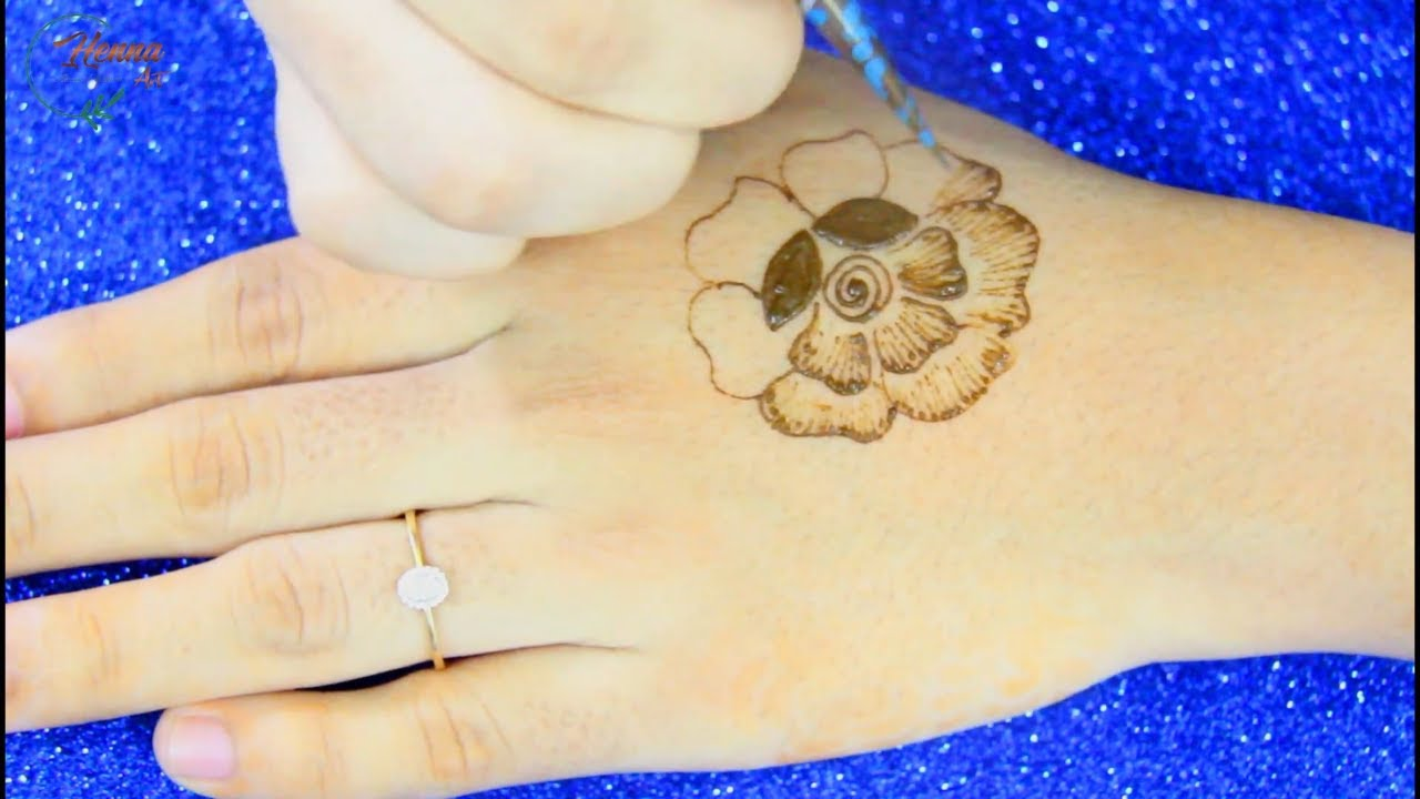 NEW Simple Floral Mehendi Design for Back Hand-Easy Mehndi Design-Mehandi-HENNA ART