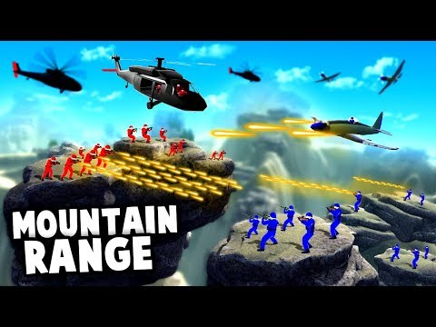 NEW Official MAP! Epic BATTLE of the MOUNTAIN RANGE! (Ravenfield Update Gameplay)