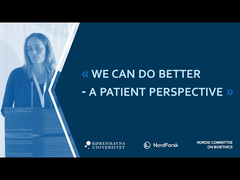 We can do better - a patient perspective - Anne Sofie Boldsen Salicath