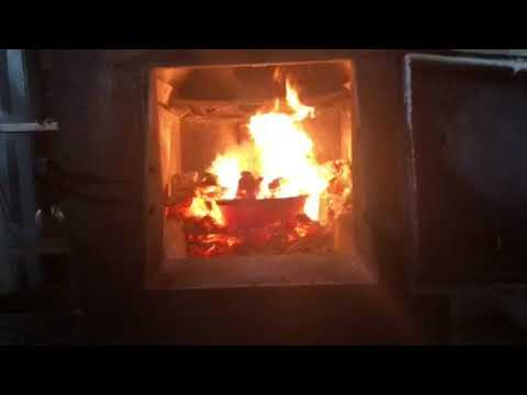 Wood stove waste oil burner hybrid