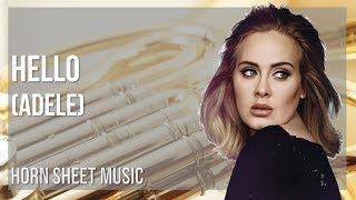 EASY Horn Sheet Music: How to play Hello by Adele