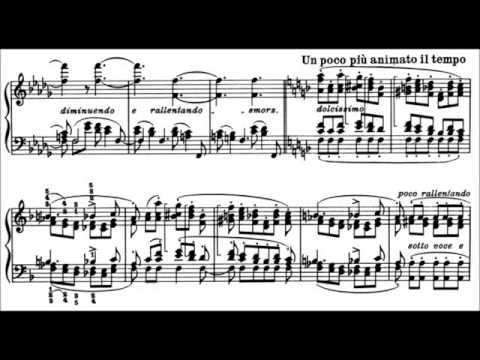 Franz Liszt-Transcendental Étude (S.139) no.03 (Paysage),(with sheet music)