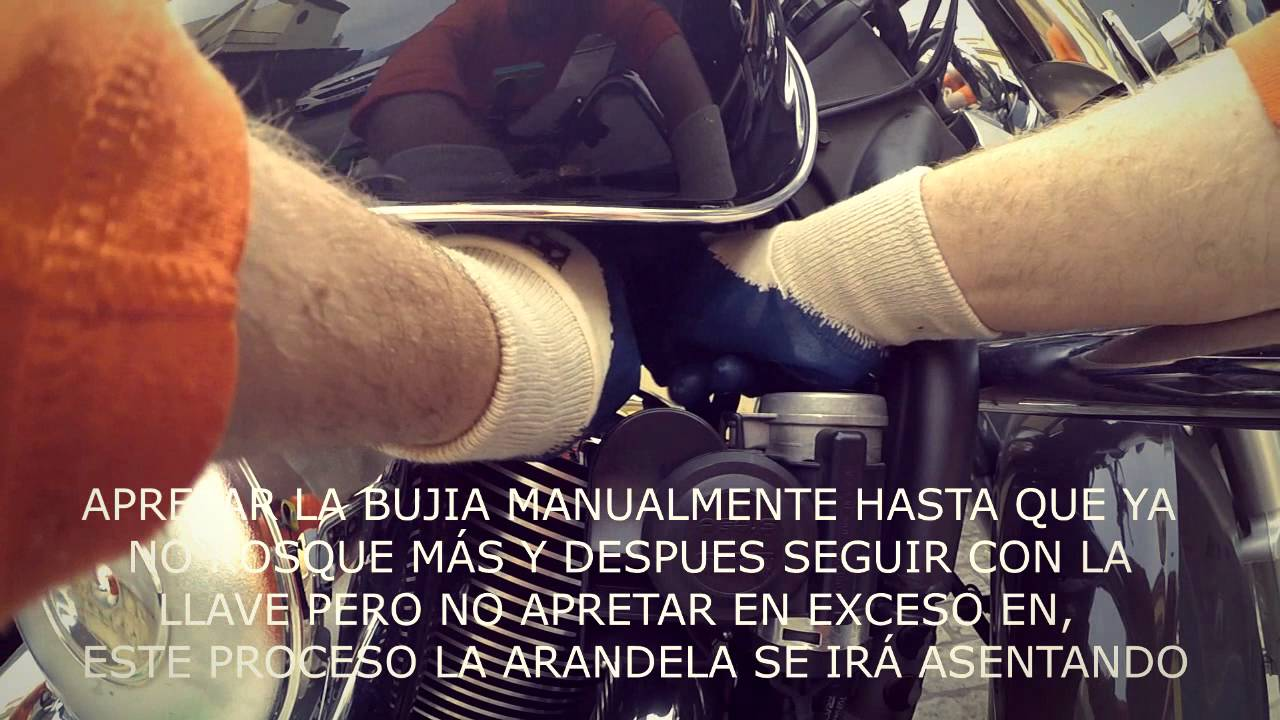 Cambio De Bujias Kawasaki Vulcan 900 Replacing Spark Plugs Wiring Diagram For A Motorcycle