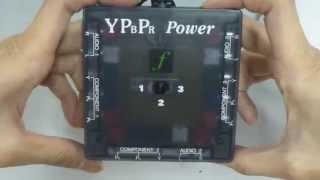 XCM A/V SELECTOR WITH COMPONENT VIDEO YPBPR