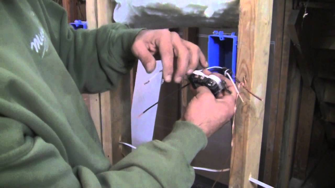 basement wiring diagram single phase motor capacitor start run how to install a 120 volt outlet youtube